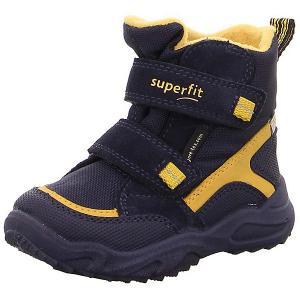 Утепленные ботинки Superfit. Цвет: сине-жёлтый