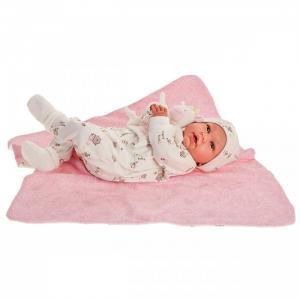 Кукла Реборн Лидия в розовом 52 см Munecas Antonio Juan