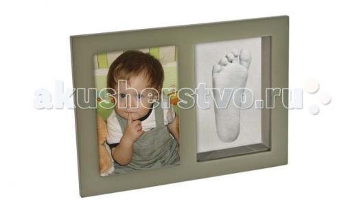 Рамочка со слепком 3D одинарная стеклом настольная 30х21 Ручки&Ножки