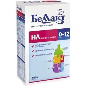 Молочная смесь  НЛ низколактозная 0-12 месяцев, 400 г Беллакт