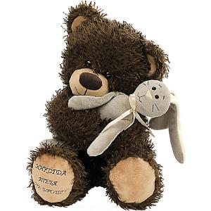 Мягкая игрушка  Медвежонок Чиба с зайцем Fancy. Цвет: grau/grün