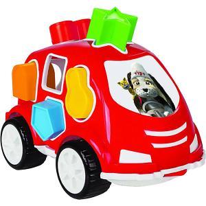Машинка с кубиками  Smart Shape Sorter Car, красная Pilsan. Цвет: красный