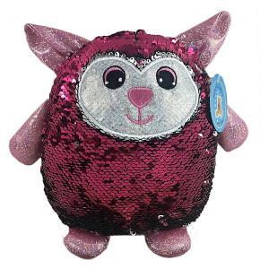 Мягкая игрушка  Овечка с пайетками, 20 см ABtoys. Цвет: розовый