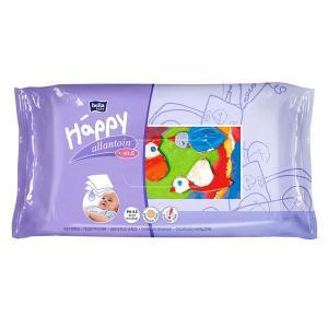 Салфетки  «Baby Happy» влажные с витамином Е и аллантоином, 64 шт Bella