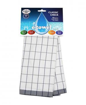 Полотенце кухонное Классическая клетка, 60х40 см E-Cloth