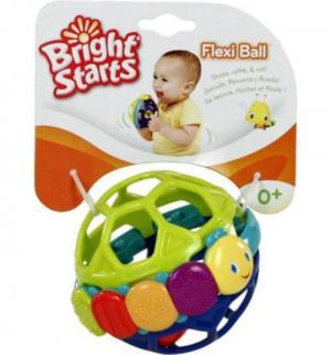 Развивающая игрушка  Гибкий шарик, 11 см Bright Starts