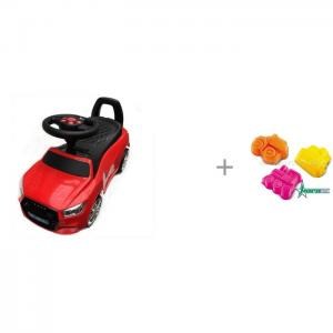 Каталка  Audi JY-Z01A MP3 и Формочки для песка Нордпласт Транспорт RiverToys