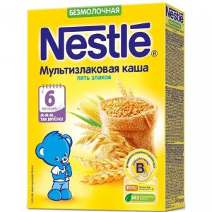 Каша  безмолочная мультизлаковая 5 злаков с 6 месяцев 200 г Nestle
