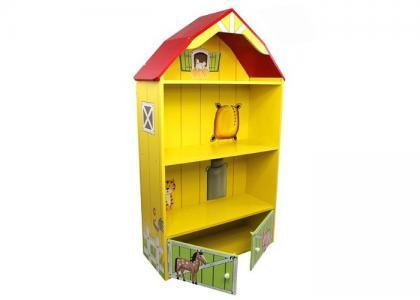 Кукольный домик из дерева Моя большая ферма с загоном для лошадей Kids4kids