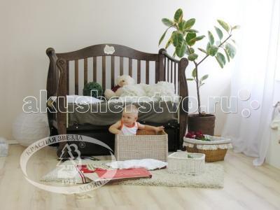 Детская кроватка  Валерия С707 Мишка на облаке продольный маятник Можга (Красная Звезда)