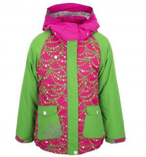 Куртка  Jane, цвет: розовый/зеленый IcePeak