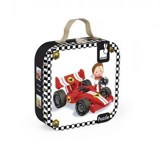 Набор пазлов  Формула-1 чемодан Janod