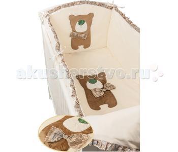 Комплект в кроватку  Toy Teddy 120х60 (6 предметов) Makkaroni Kids