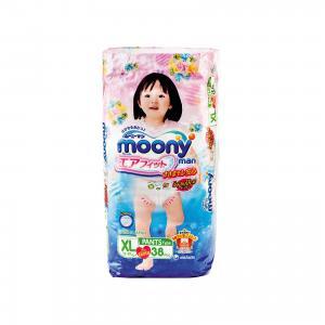 Трусики-подгузники для девочек  Man, XL 12-17 кг., 38 шт Moony