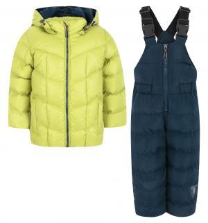 Комплект куртка/полукомбинезон , цвет: салатовый/синий Ёмаё