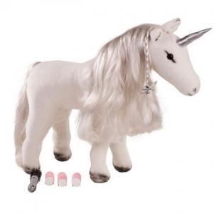 Мягкая игрушка  Белый единорог 50 см Gotz