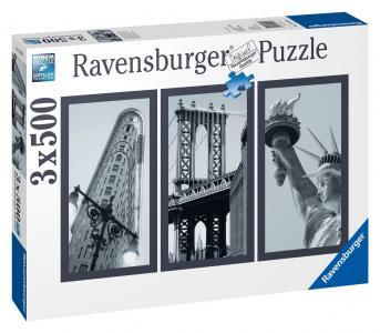 Пазл-триптих  Воспоминания о Нью-Йорке Ravensburger