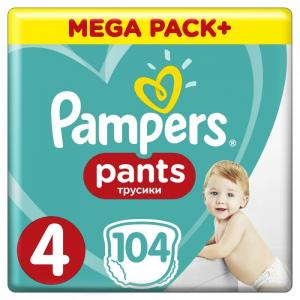 Подгузники-трусики Pants Maxi р.4 (9-15 кг) 104 шт. Pampers