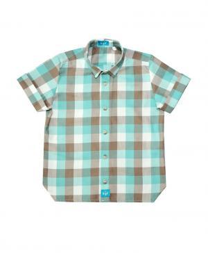 Рубашка , цвет: бирюзовый/бежевый The hip!