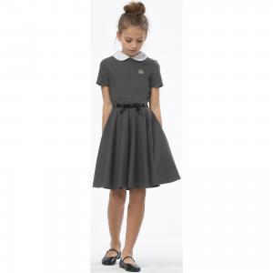 Платье  для девочки Смена. Цвет: серый
