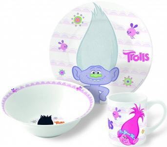 Набор посуды керамической Тролли (3 предмета) Stor
