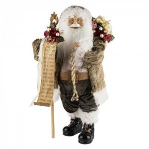 Дед Мороз в мягкой шубке с мешком 46 см Maxitoys