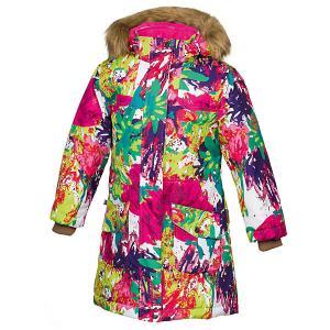 Куртка MONA  для девочки Huppa. Цвет: разноцветный
