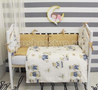 Комплект в кроватку  Мишки-морячки с подушками-бортиками (6 предметов) ByTwinz