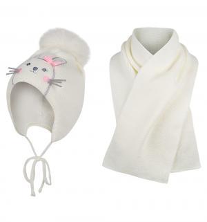 Комплект шапка/шарф  Bunny, цвет: бежевый Ewa