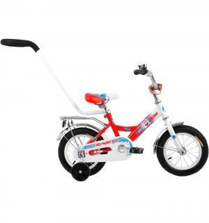 Детский велосипед  City Boy 12, цвет: белый/красный Altair