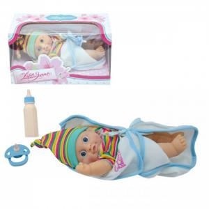 Кукла-Пупс одежда в полосочку со звуком 23 см Lisa Jane