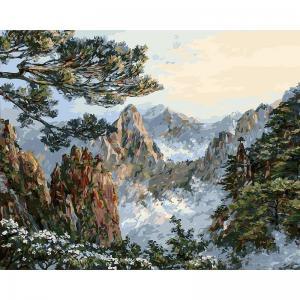 Живопись на подрамнике  Китай. хуаншань Белоснежка