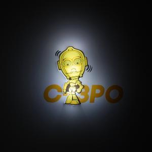 Пробивной мини 3D светильник C-3PO, Звёздные Войны Детское время