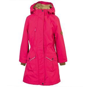 Куртка MOONI  для девочек Huppa. Цвет: розовый