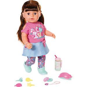 Интерактивная кукла  Baby born Сестричка брюнетка, 43 см Zapf Creation