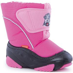 Сноубутсы для девочки Demar. Цвет: розовый