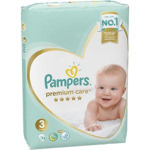 Подгузники  Premium Care 6-10 кг, 74 шт Pampers. Цвет: weiß/beige