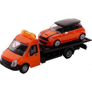 Игровой набор  Street fire Flatbed transport Автовоз, 1:43 Bburago