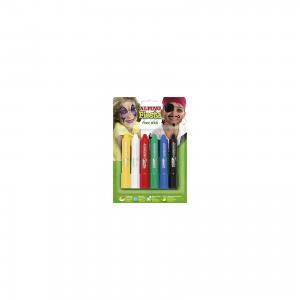Детский аквагрим Face Stick (макияжные карандаши), 6*5 гр, 6 цв. ALPINO