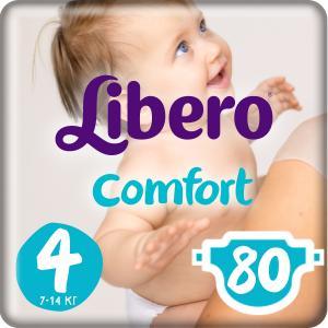 Подгузники  Comfort 4 (7-14 кг) 80 шт. Libero