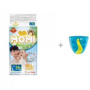 Подгузники L (9-14 кг) 54 шт. и ROXY Органайзер-сортер для игрушек в ванную DINO Momi
