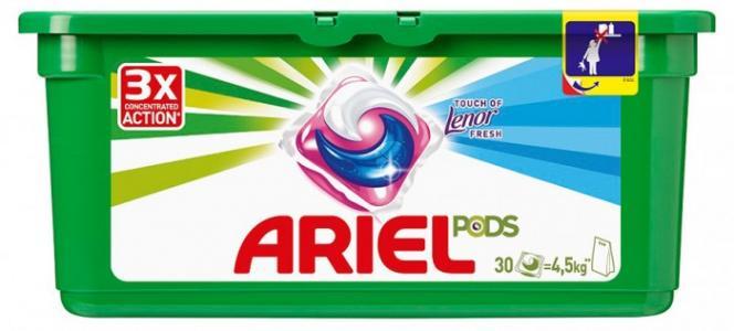 Авт Гель СМС жидк. в растворимых капсулах Liquid Capsules Touch of Lenor Fresh 30X27г Ariel