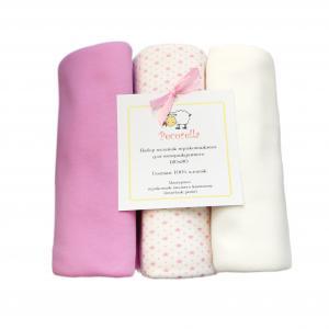 Пеленка Perfect Girl 3 шт 120 х 90 см, цвет: розовый/белый Pecorella