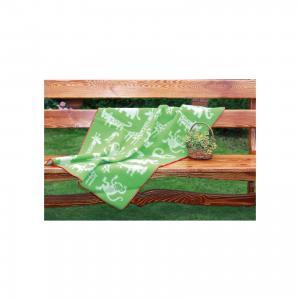 Одеяло эко-шерсть 90х130, джунгли, , зеленый Klippan