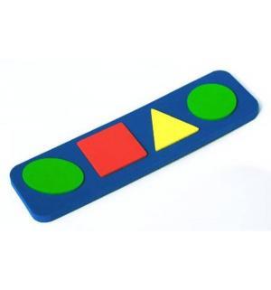 Рамка-вкладыш  Геометрические формы синий Бомик