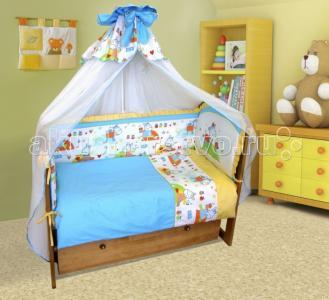 Комплект в кроватку  Ослик-хвостик (7 предметов) Soni Kids