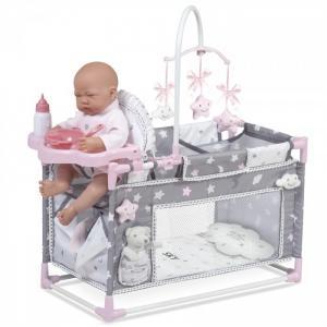 Кроватка для куклы  манеж-игровой центр Скай 59 см DeCuevas
