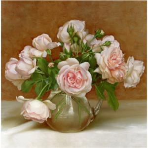 Алмазная мозаика Розовая симфония 30х30 см Molly