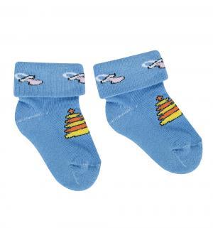 Носки , цвет: голубой Непоседа