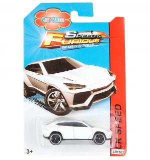Машинка инерционная  Hot Speed белая 7.5 см Игруша